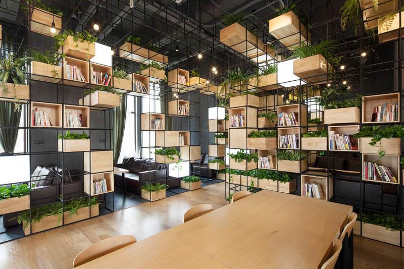 Nội thất văn phòng cây xanh