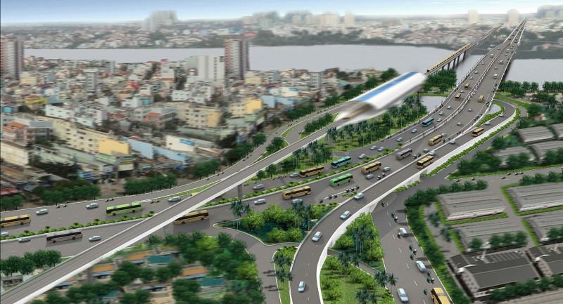 Phối cảnh tuyến Metro số 1 Dự kiến hoàn thành vào năm 2017. Ảnh: Hữu Công.