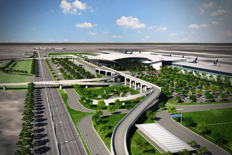 Phối cảnh tổng thể dự án Nhà Ga T2 - Sân bay Quốc tế Nội Bài