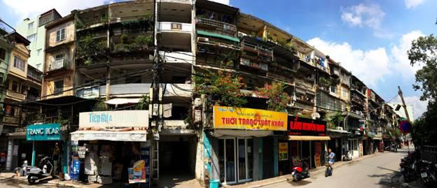 Khu B1 tập thể Nam Đồng (Đống Đa, Hà Nội) cao 5 tầng với 30 căn hộ san sát nhau.