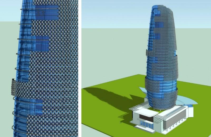 Giải pháp đề xuất về cấu tạo che nắng di động cho vỏ nhà.