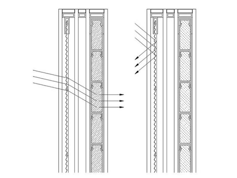 Công trình nhà ở tại Albstadt (Đức) sử dụng những tấm pin năng lượng mặt trời gắn vào những tấm chắn nắng ở lớp vỏ công trình