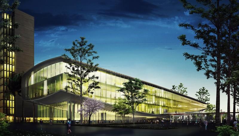 Toà nhà trung tâm học tập, thư viện, sảnh đón 3