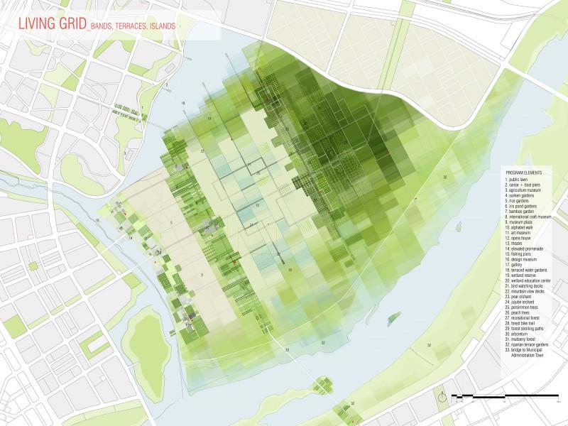 Living Grid Park – Công viên nông nghiệp trong trung tâm thành phố mới