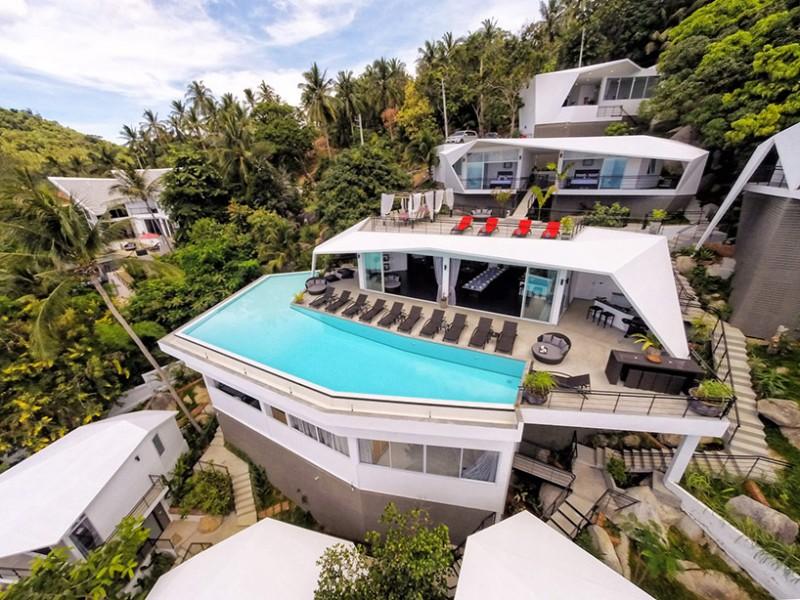 Khu nghỉ dưỡng Suan Kachamudee trên đảo Koh Samui, Thái Lan với thiết kế kiến trúc phân tầng lạ mắt