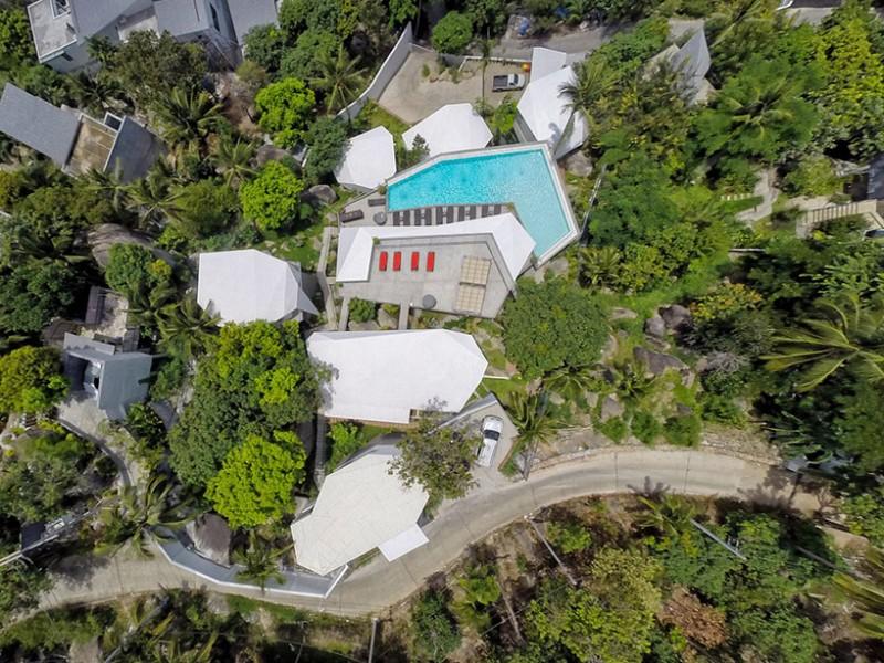 Toàn cảnh khu nghỉ dưỡng Suan Kachamudee nhìn từ trên cao