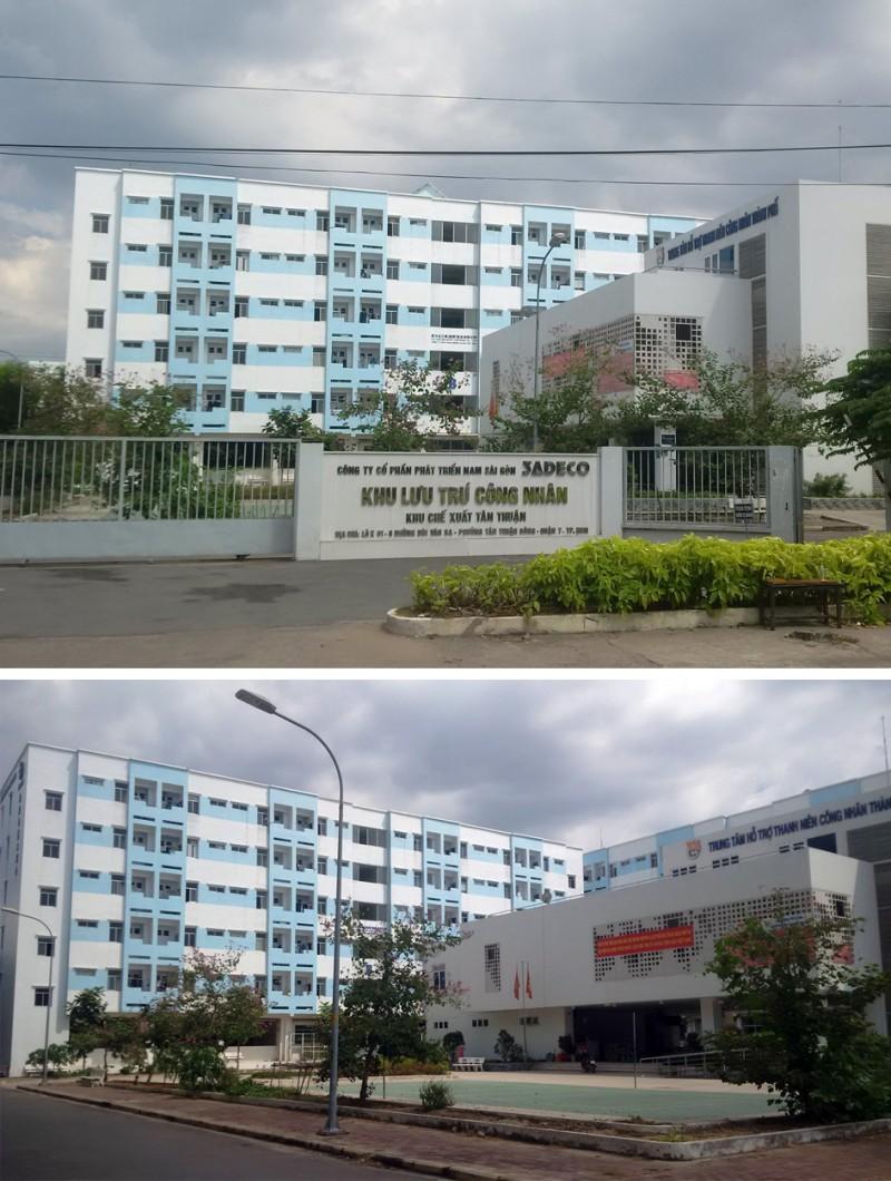 Hình 1: Khu nhà ở công nhân Khu chế xuất Tân Thuận, P.Tân Thuận Đông, Quận 7, Tp.HCM (Ảnh: tác giả)