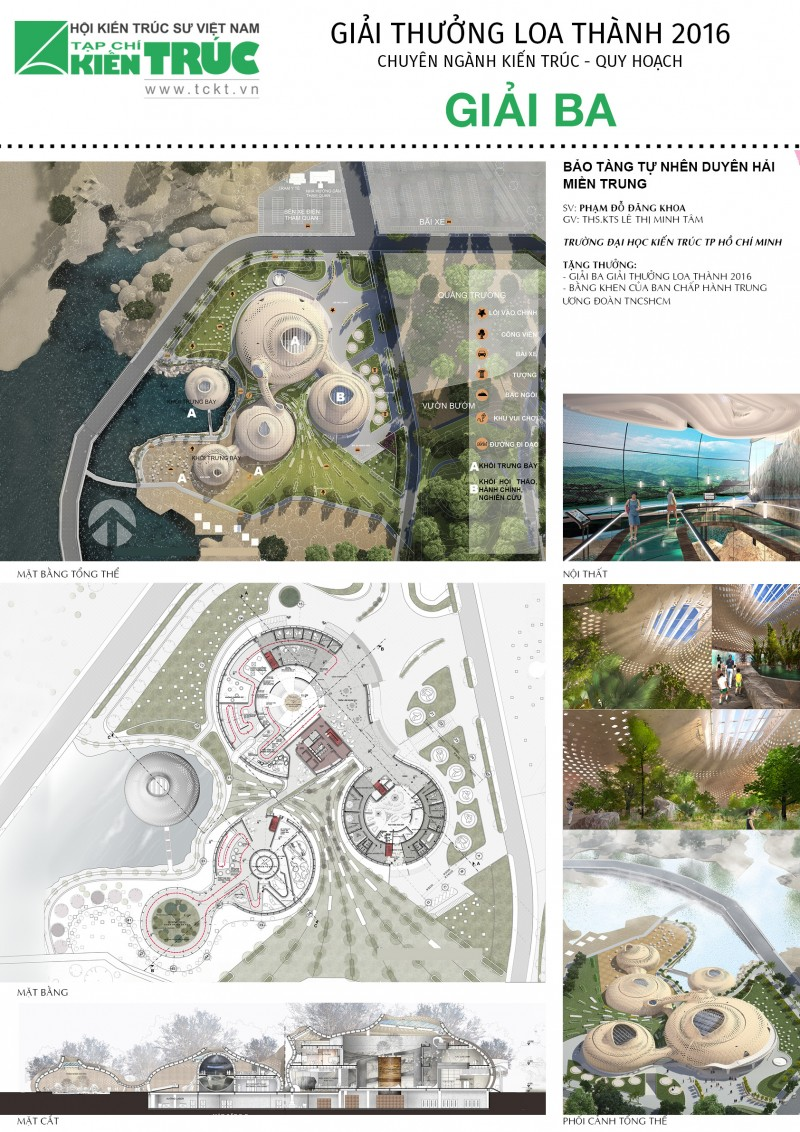 Giải Ba Loa thành 2016 chuyên ngành Kiến trúc Quy hoạch