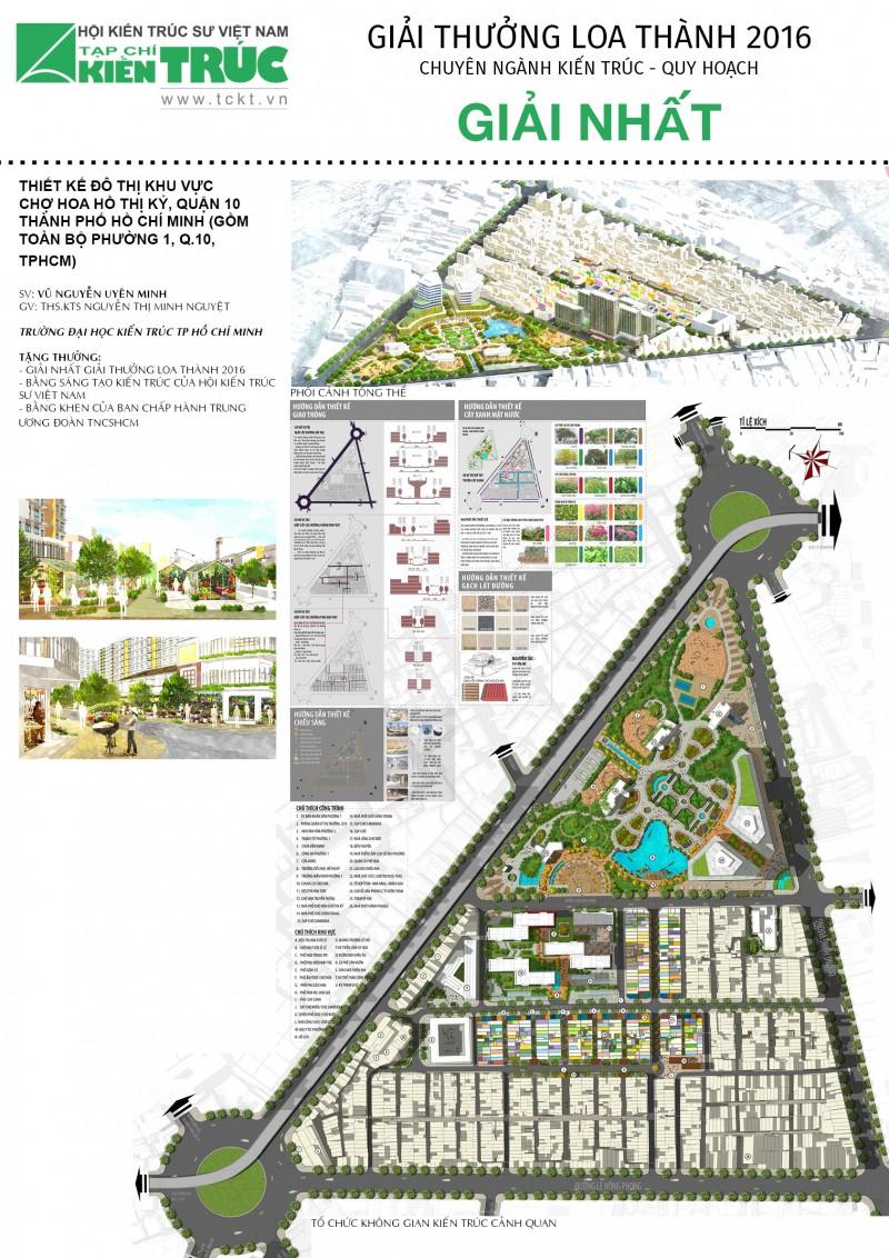 Giải Nhất Loa thành 2016 chuyên ngành Kiến trúc Quy hoạch