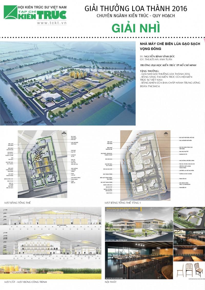 Giải Nhì Loa thành 2016 chuyên ngành Kiến trúc Quy hoạch