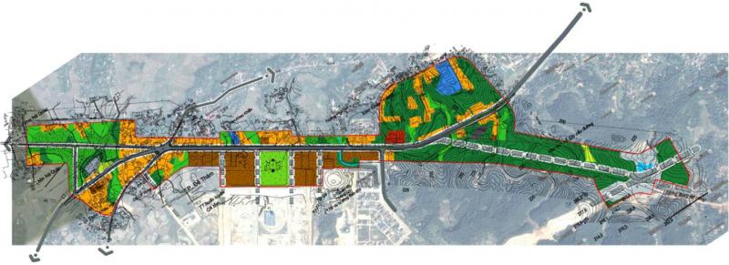 """Dự án """"Thiết kế đô thị đường tránh QL3, thành phố Cao Bằng, tỉnh Cao Bằng"""" – Khu vực nghiên cứu rộng 130ha được quy hoạch là Trung tâm hành chính mới của tỉnh Cao Bằng, nguy cơ sẽ tạo ra một trung tâm """"tối đèn"""" sau giờ hành chính, thiếu các hoạt động xã hội."""