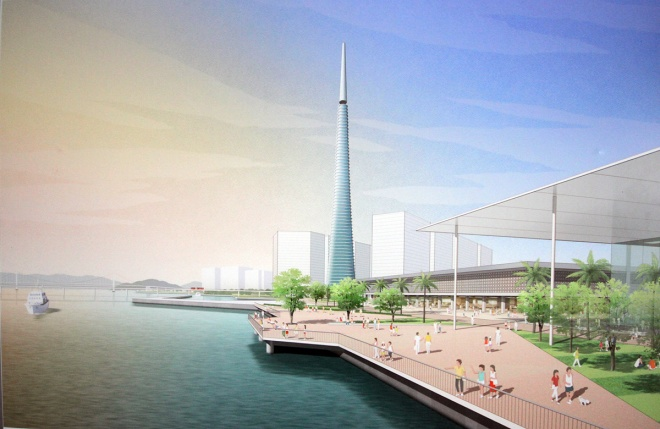 Khi quy hoạch cho 2 bờ sông Hàn, nhiều đơn vị tư vấn chú ý đến việc xây dựng tòa nhà biểu tượng mới của thành phố.