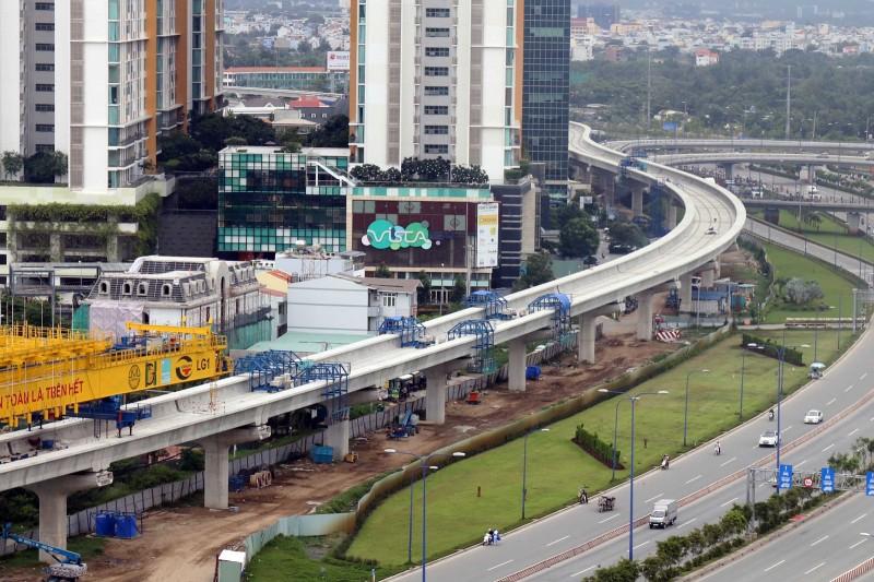 Tuyến metro Bến Thành - Suối Tiên thuộc dự án đường sắt đô thị số 1 đang dần hình thànhẢnh: Độc Lập