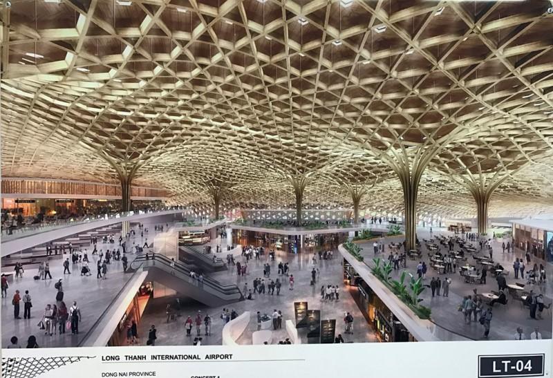 Từ sảnh nhà ga đi, khu kinh doanh dịch vụ, khu miễn thuế, phòng chờ hành lang ga đến... đều được thiết kế bằng chất liệu tre, vật liệu xanh thân thiện với môi trường.