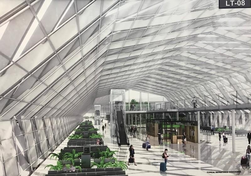 Ý tưởng từ đan kết không gian nón, rổ, cây cối nhưng lại hoàn thiện bằng khung théo bên trong, mái kim loại, vách kính bao che tạo một không gian hiện đại, năng động.