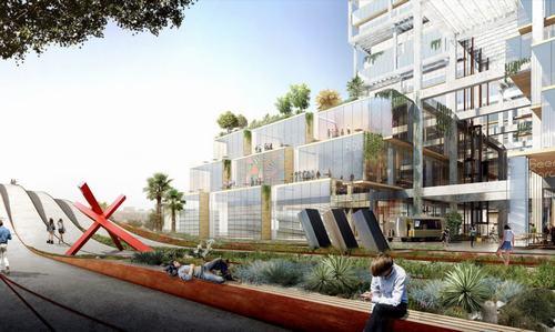 Tòa nhà rộng lớn với không gian xanh